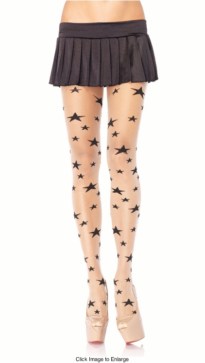 Sheer Pantyhose with Stars