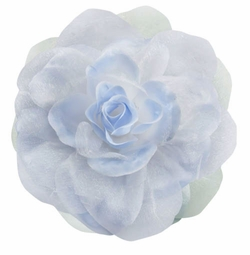 "4"" Silky Flower Hair Clip with Chiffon Layer  (available in 15 colors)"
