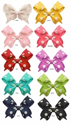 "2"" Polka Dot Bow Hair Clips"