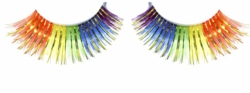 Multi Rainbow Lashes with Gold Lurex