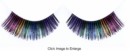 Rainbow Multi Metallic Lashes