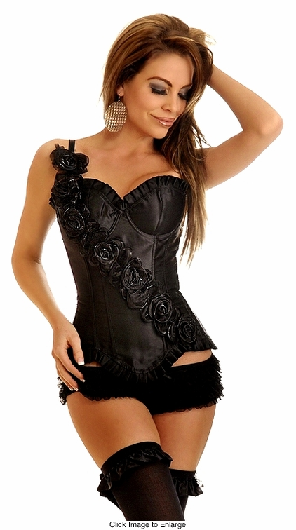 Debutante Black Corset (available up to size 2X)