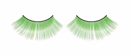 Long Green Lashes
