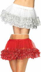 "11"" Long Sequin Dot Petticoat"