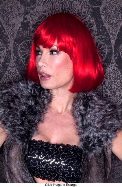 Red Bob Wig with Bangs