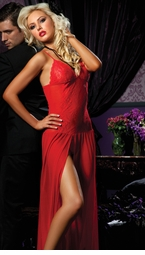 Long Mesh Gown (available also in plus sizes)