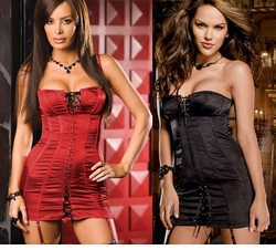 Khloe Corset Dress with Thong and Stockings