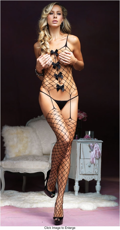 Fence Net Suspender Bodystocking