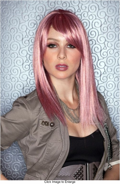 Medium Length Wig in Pink Venom