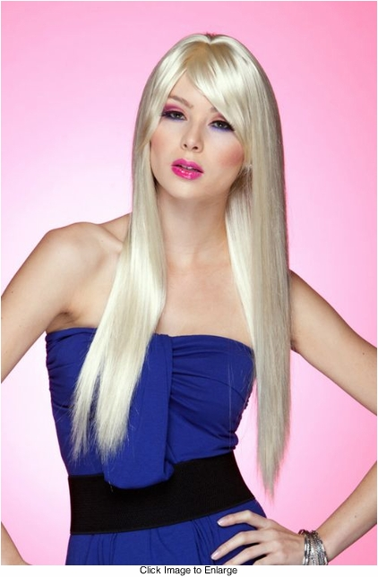Long Straight Wig with Bangs in California Blonde