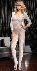 Bow Lace Long Sleeve Bodystockings