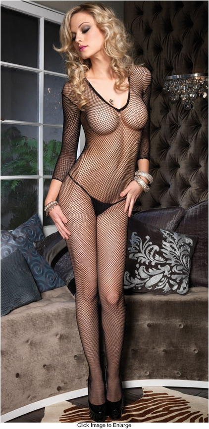 Long Sleeve Fishnet Bodystockings