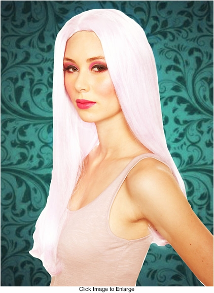 White Mermaid Wavy Wig