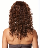 Long Layered Bouncy Curls Human Hair Blend Wig