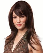 Layered Long Hair Human Hair Blend Wig