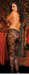 Floral Lace Leggings (Plus Size Available)