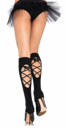 Lace-up Back Leg Warmers