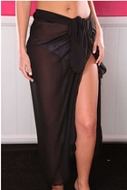 Ankle Length Sheer Chiffon Sarong Wrap