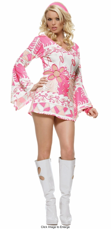 Flower Cutout Go-Go Costume