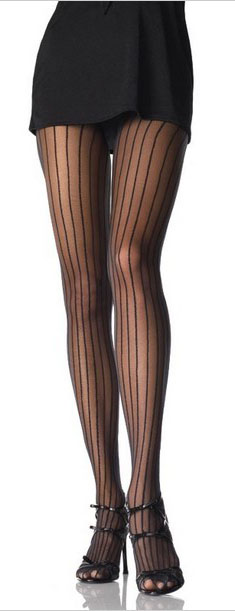 Lycra Sheer Pin Stripe Pantyhose