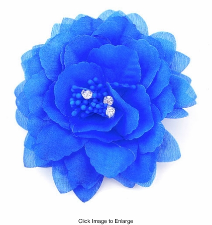 "4"" Flower Hair Clip (available in 6 colors)"