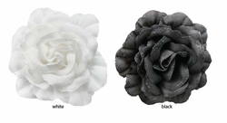 "5"" Flower Hair Clip with Glitter Edged Petals"
