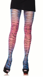 Sunset Zebra Opaque Pantyhose