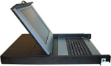 "1U 15"" LCD Monitor  w/Keyboard and Integrated Track Ball Mouse, Model # EJ-M01LCD"