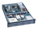 "2U Rackmount Server Chassis, 25.6"" Deep, 8 x SATA Backplane, SATA II Compatible, Case only, Model # EJ-2U6510S-C"