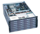 5U Rackmount server, EJ-580, 24 x swappable IDE HDD trays w/backplane, case only
