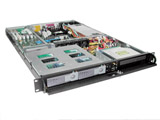 "1U Rackmount Server Chassis, 25.6"" Deep, 3 Bays, 6 Fans, 2 x Hotswap SATA HDD Backplane, SATA II Compatible, Case only, Model # EJ-1U653S-C"