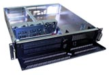 "2U Short Rackmount Server Chassis, 17.7"" Deep, 5 Bays, 3 Fans, Case only, Model # EJ-2U455-C"