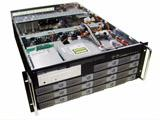 "4U Rackmount Server Chassis, 25.6"" Deep, 14 x Swappable SATA Trays, 5 Fans, SATA II Compatible, Dual Xeon/Opteron Ready, Case only, Model # EJ-4U6517S-C"