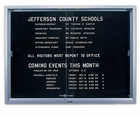 Indoor Letter Boards with Sliding Glass Doors