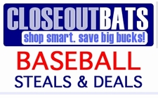 CLOSEOUTS: Adult Baseball Bats