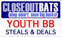 Youth League Bats  -- Closeouts