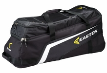 Black/Black Only Easton Brigade XL Wheeled Bat Bag 2013 A163137