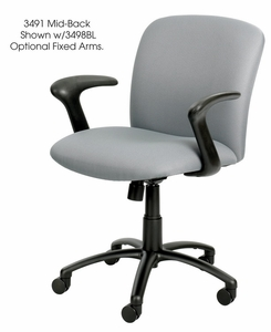 Safco Mid Back 24 7 Chair With 500 Lb Capacity 3491