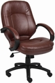 Boss LeatherPlus Conference Chair [B726]