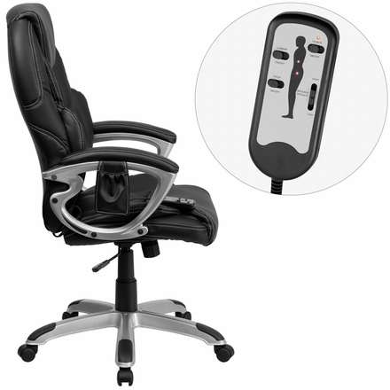 Home Office Chairs Contemporary High Back Office Chair With Massage