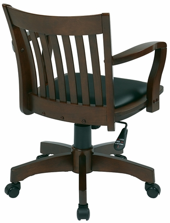 Wooden Bankers Desk Chair Deluxe Wood Bankers Desk Chair
