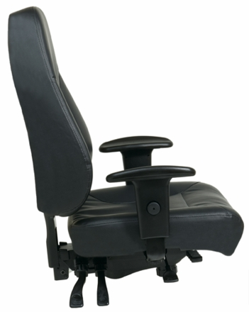 Harwick 100kl Multi Function Leather Drafting Chair Free