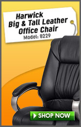 Harwick Big and Tall Leather Office Chair