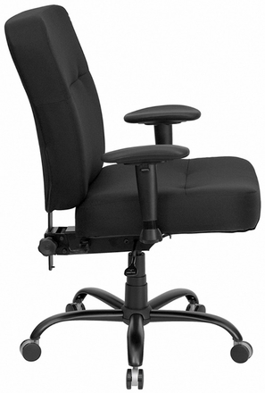 Hercules Black Fabric Big Mans Chair [WL-735SYG-BK-GG]