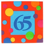 65th Birthday Napkins