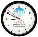 Personalized 100th Birthday Clock