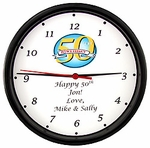 Personalized 50th Clock