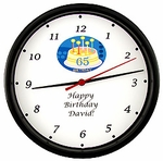 Personalized 65th Birthday Clock
