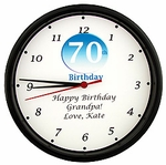Personalized 70th Birthday Clock