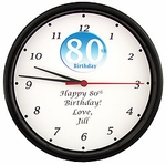 Personalized 80th Birthday Clock